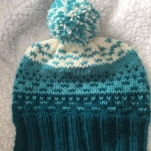 462ae48c924 Accessories - Hand knit hat with pompom